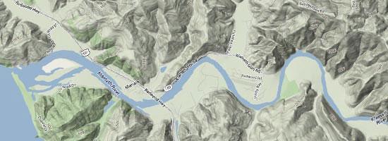 Klamath River Map