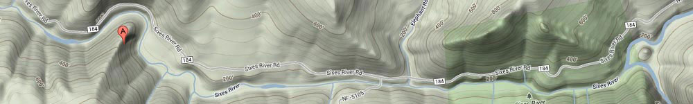 sixes river map