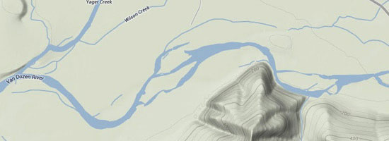 Van Duzen River Map